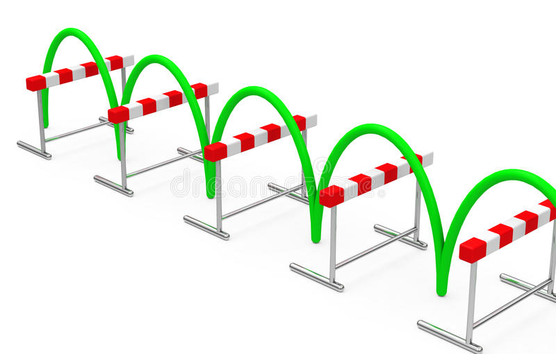 The hurdling process vector illustration