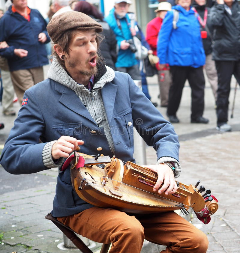 Free Hurdy Gurdy Player In Galway Ireland Royalty Free Stock Image - 97919506