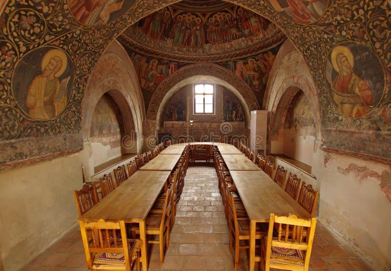Orthodox church. Hurezi or Horezu Monastery, landmark attraction in Romania royalty free stock images