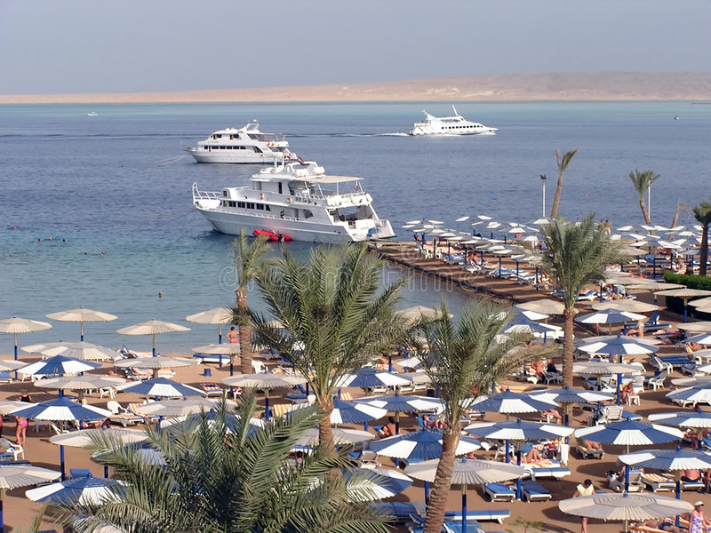 Download Hurghada - Egypt stock image. Image of beach, ship, palm - 5989403