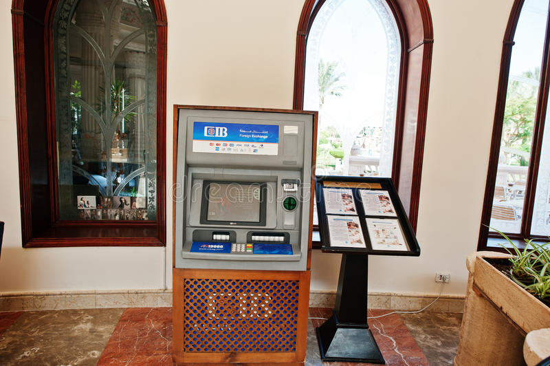 Hurghada, Egypt -20 August 2016: CIB - Commercial International. Bank Egypt ATM stock images