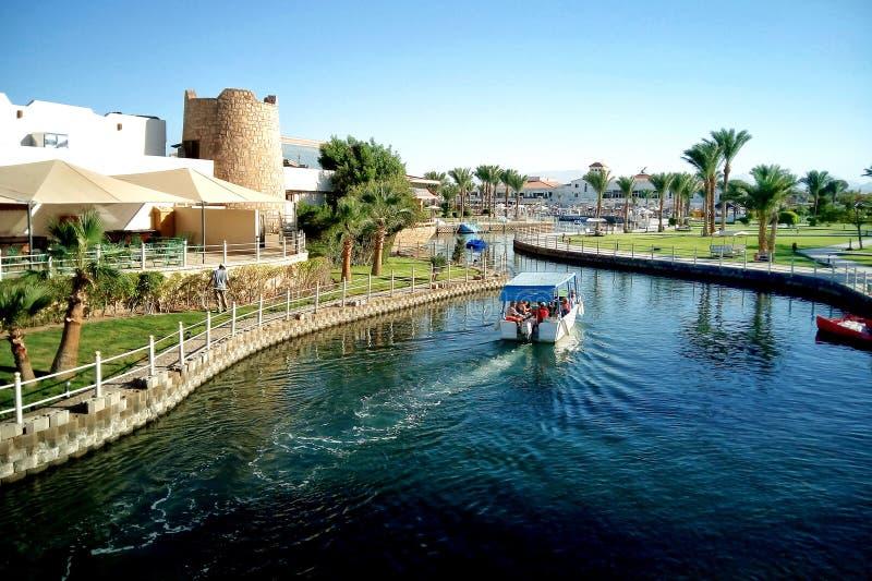 Hurghada, Egypte - 15 août 2015 : L'hôtel cinq étoiles luxueux Dana Beach Resort dans Hurghada est un du Pickalbatros Est un t po photos stock
