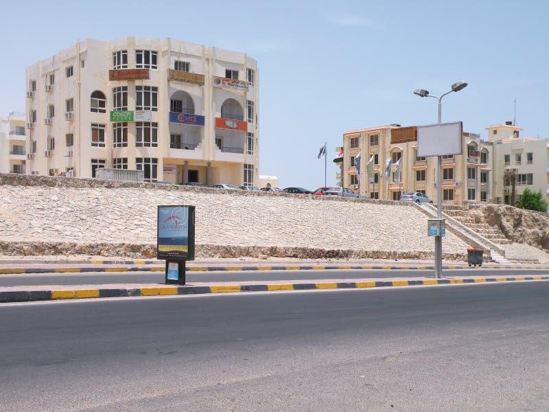 Hurghada grodzka ulica, Egipt fotografia royalty free