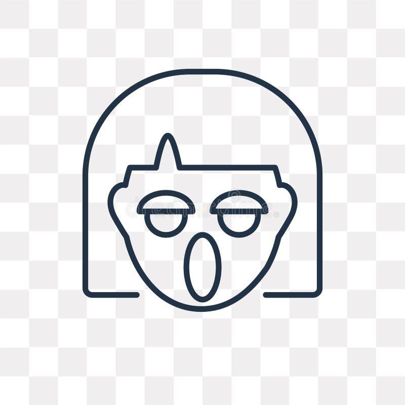 Hurlant l'icône de vecteur d'isolement sur le fond transparent, Y linéaire illustration stock