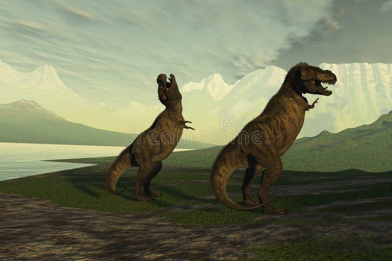 Hurlement de T-Rex illustration de vecteur