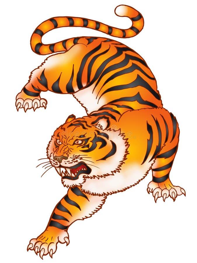 Hurlement du tigre illustration stock