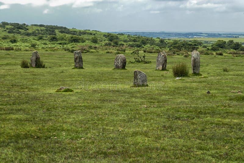 Hurlers dichtbij Minions Cornwall, het UK royalty-vrije stock afbeeldingen