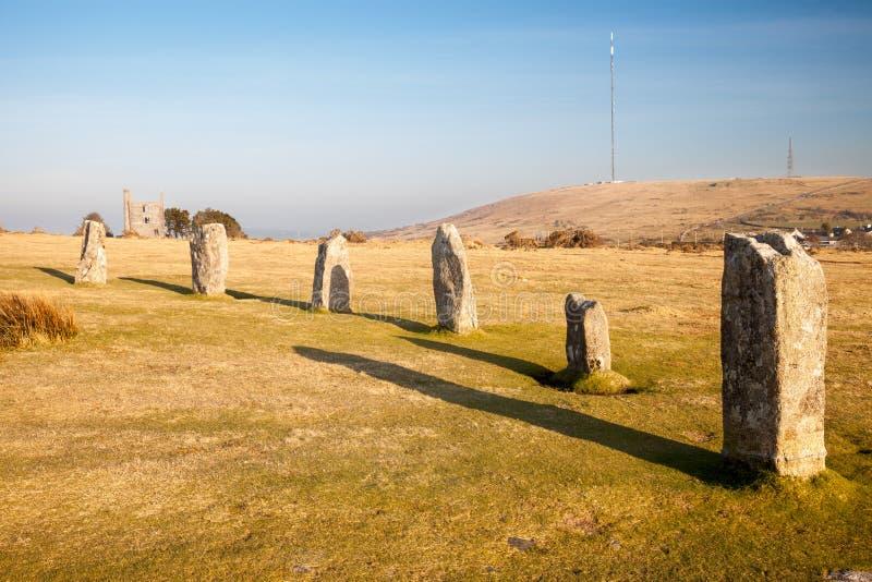 Hurlers in Minions Cornwall royalty-vrije stock foto