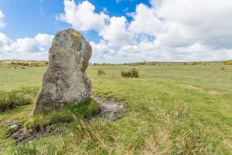 Hurlers na bodmin cumują w Cornwall Anglia UK obrazy stock