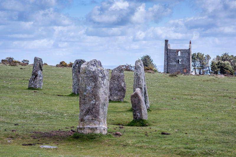 Hurlers na bodmin cumują w Cornwall Anglia UK obraz royalty free
