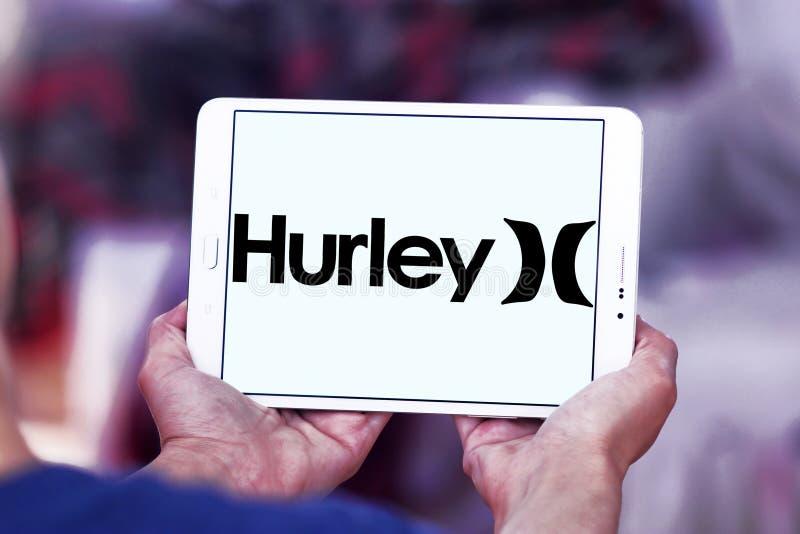 Hurley internationell företagslogo arkivbild