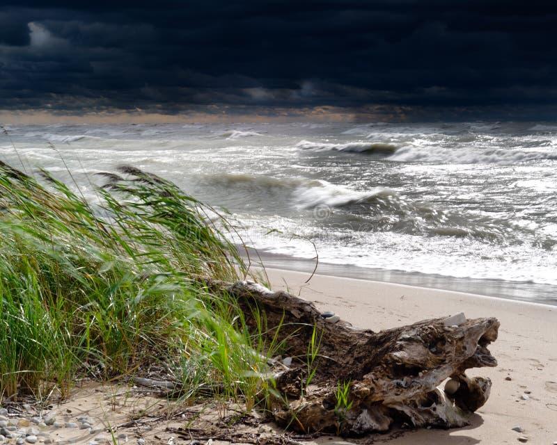 huron λίμνη πέρα από τη θύελλα στοκ φωτογραφία