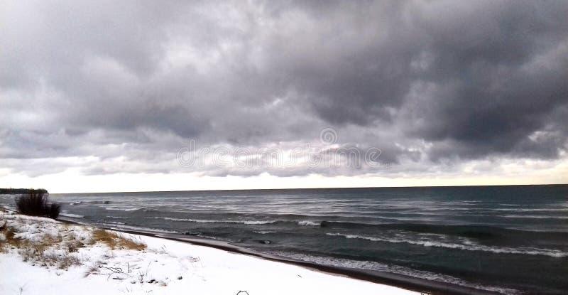 huron lake arkivbild