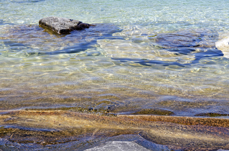 huron lake royaltyfri bild