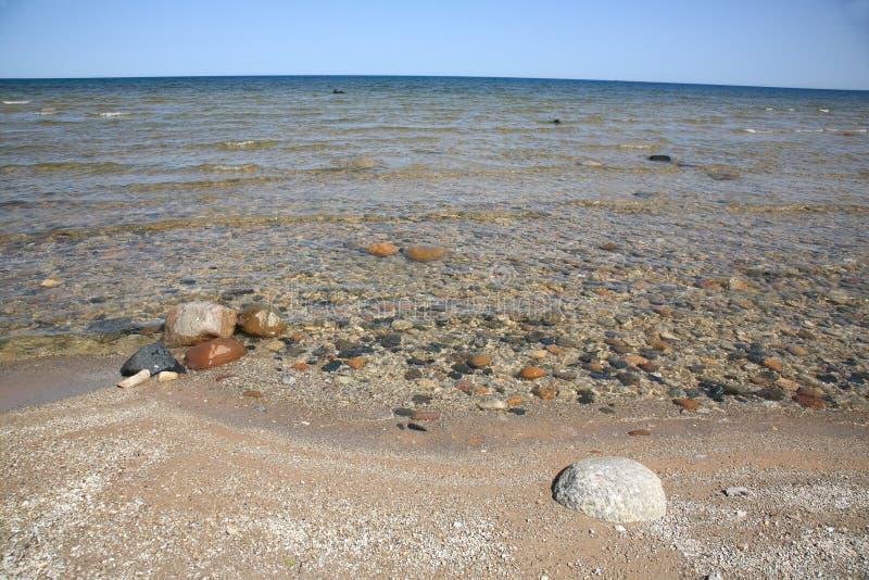 huron lakeseashore royaltyfri fotografi