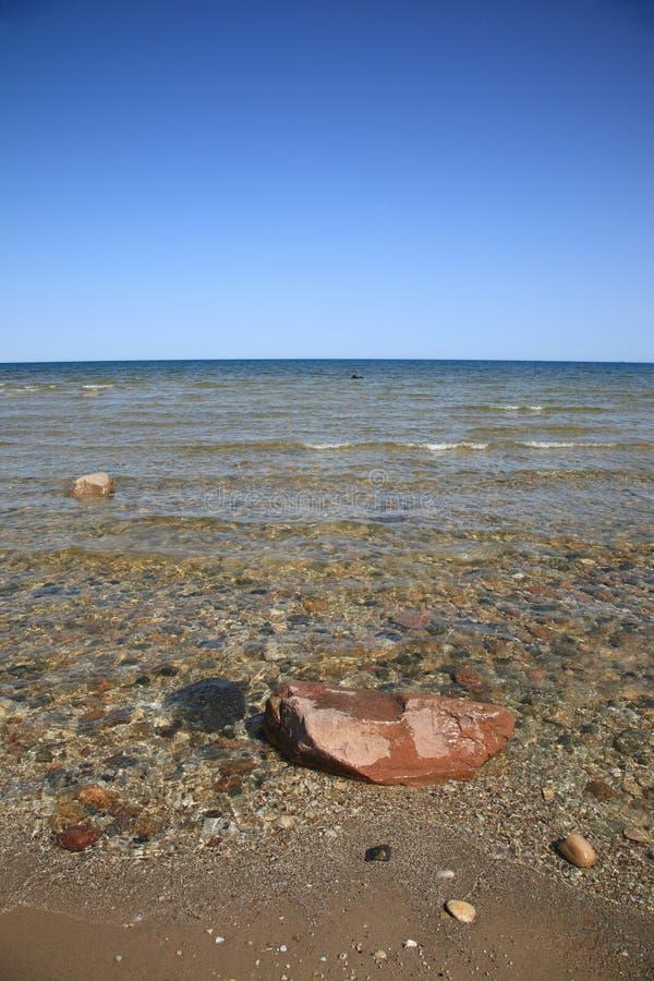 huron lakeseashore royaltyfri bild