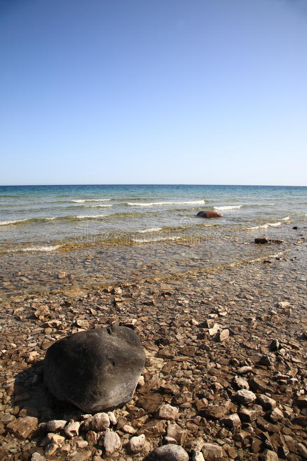 huron lakeseashore arkivbild