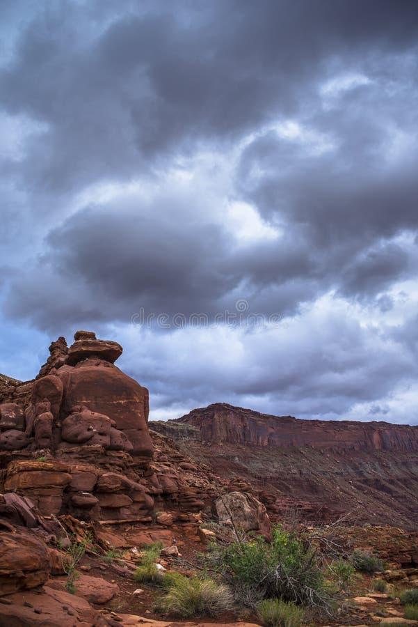 Hurrah fuga Moab Utá da passagem imagens de stock