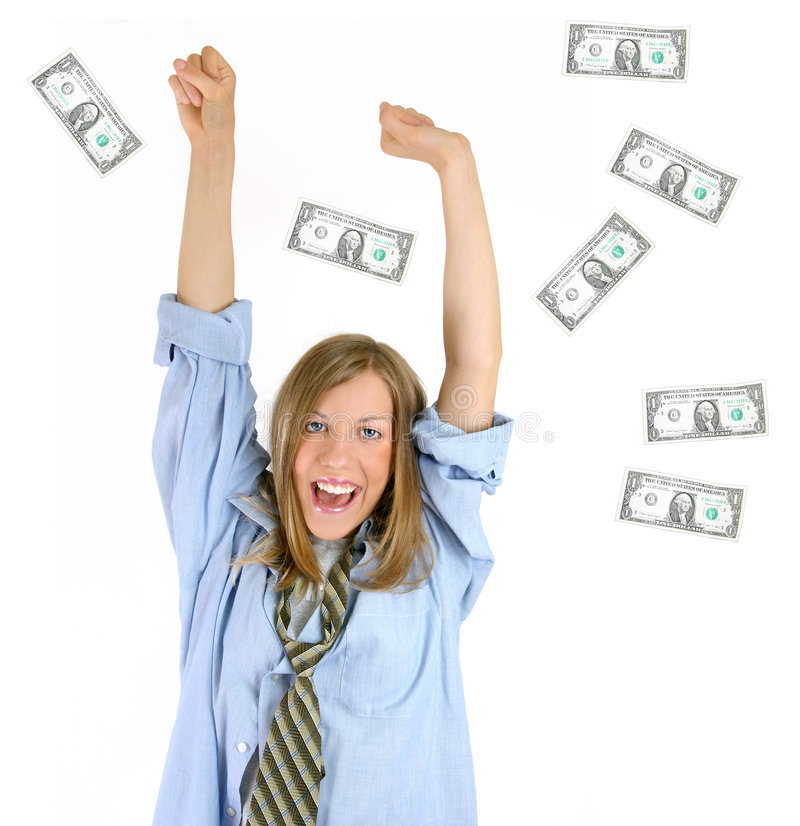 Hurray! First Million! Success! stock photo