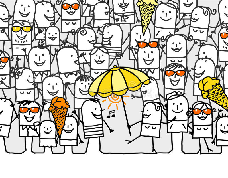 Hurray per i giorni di estate royalty illustrazione gratis