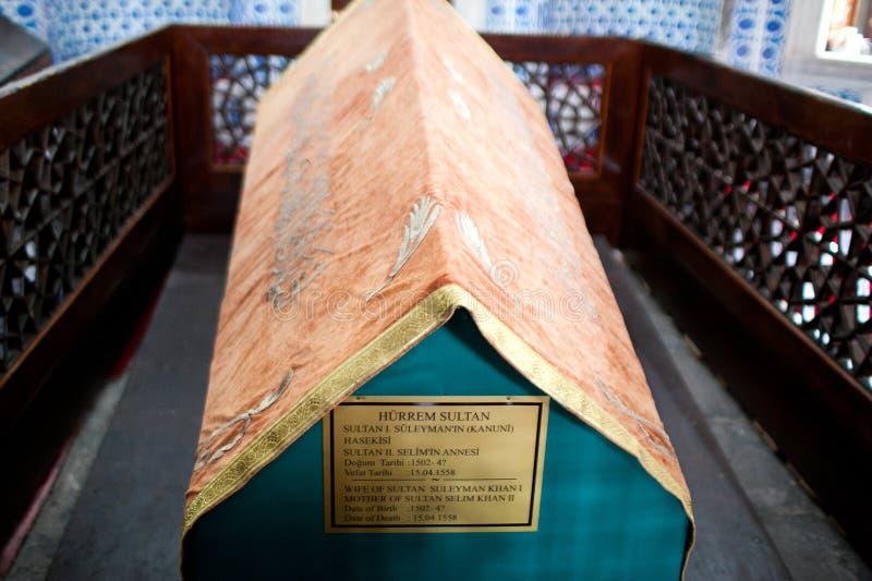 Hurrem sułtanu grobowiec w Suleymaniye meczecie, Istanbuł, Turcja fotografia stock