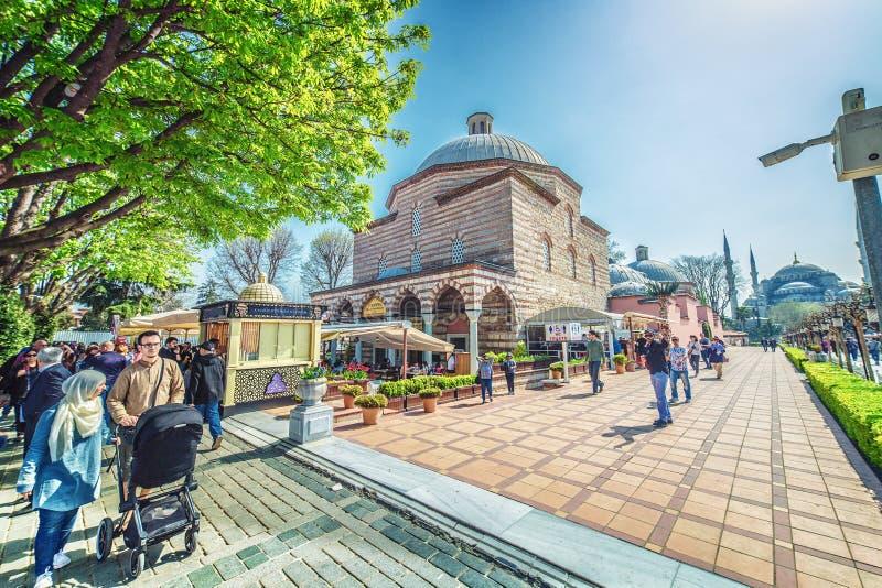 Hurrem sułtanu skąpanie jest Osmańskim skąpaniem obrazy royalty free