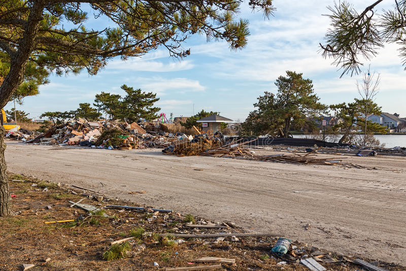 Hurrican Sandy Aftermath In Point Pleasant, New Jersey Royalty Free Stock Photo