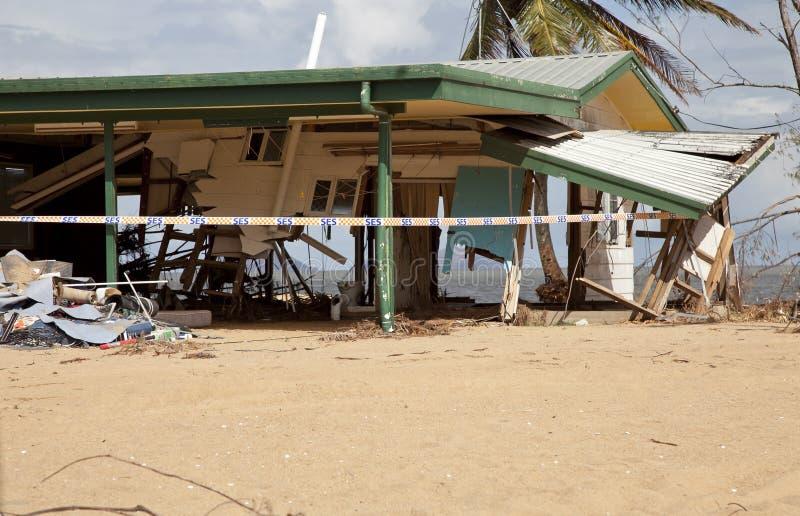 Hurricane Cyclone Damage. Cyclone/hurricane damage to a house in Queensland Australia royalty free stock photo