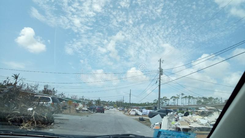 Hurricane Dorian   Bahamas aftermath. Freeportgrand, bahama royalty free stock photos