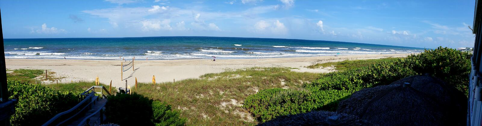 Before Hurricane Dorian. Panoramic view of Melbourne Beach just before Hurricane Dorian royalty free stock image