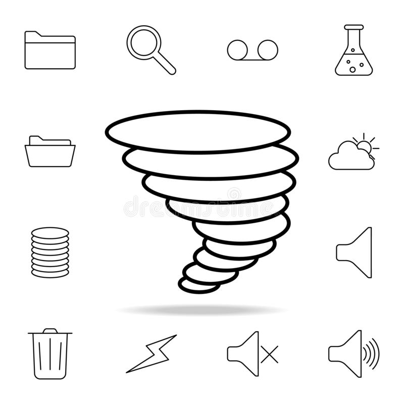 Hurricane icon. Detailed set of simple icons. Premium graphic design. One of the collection icons for websites, web design, mobile vector illustration