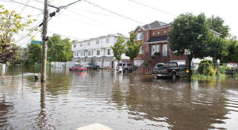 Hurricane Irene. Flood from Hurricane Irene , New york city . 08.28.2011 royalty free stock image