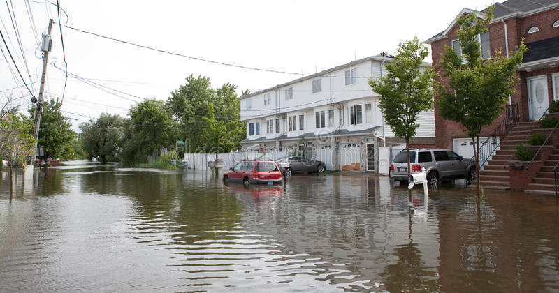 Hurricane Irene. Flood from Hurricane Irene , New york city . 08.28.2011 stock images