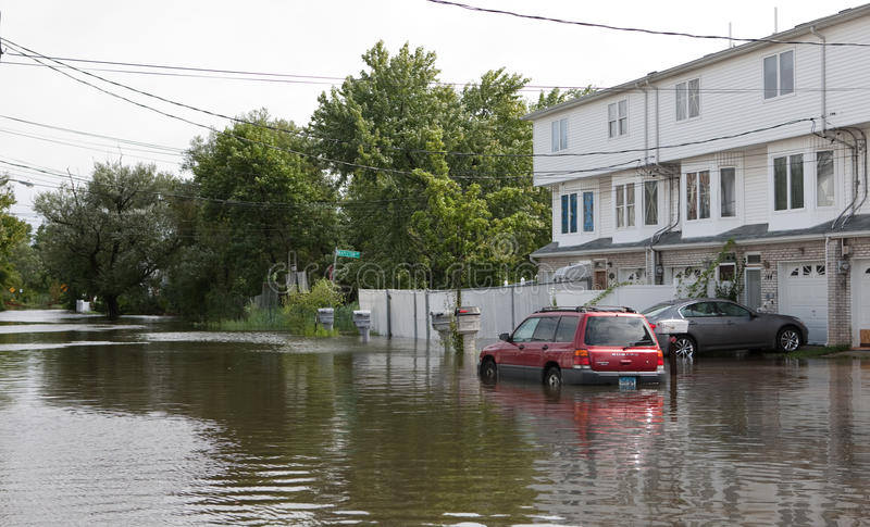 Hurricane Irene. Flood from Hurricane Irene , New york city . 08.28.2011 stock photography