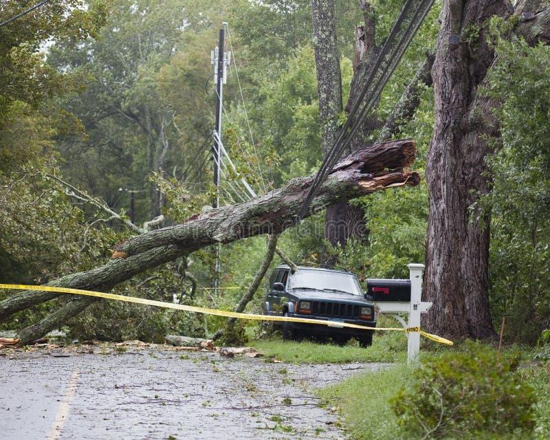 Hurricane Irene Damage. Driving around my neighborhood in Connecticut surveying the damage stock images