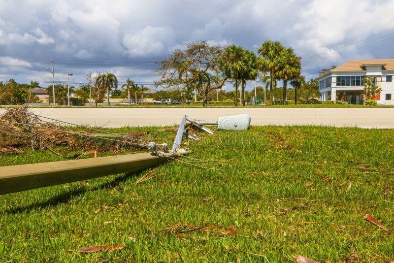 Hurricane Irma Damage royalty free stock photo