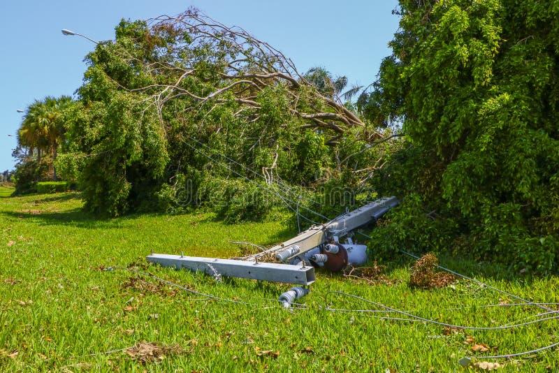 Hurricane Irma Damage royalty free stock image