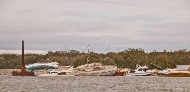 Hurricane Irma Damage in Florida USA stock photos