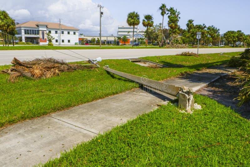 Hurricane Irma Damage stock photography