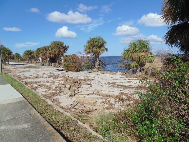 Hurricane Irma Damage Titusville Florida royalty free stock photography