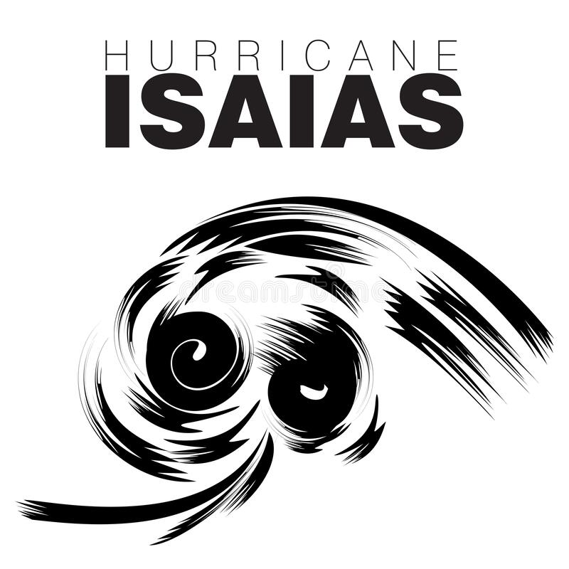 Free HURRICANE ISAIAS Which Translates As God Is My Salvation Stock Images - 192302784