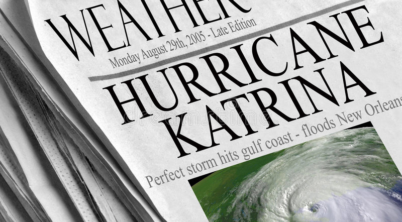 Hurricane Katrina stock image