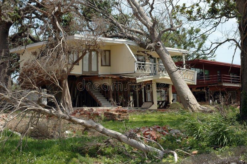 Hurricane Katrina. Destroyed by hurricane Katrina in Biloxi royalty free stock images