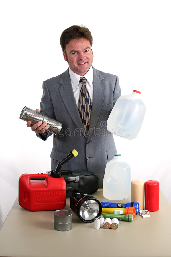Hurricane Kit - Food & Water royalty free stock photo