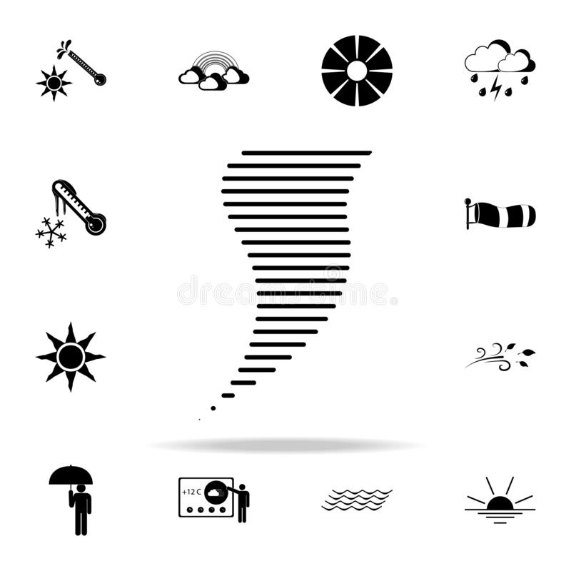 hurricane lines sign icon. Weather icons universal set for web and mobile royalty free illustration
