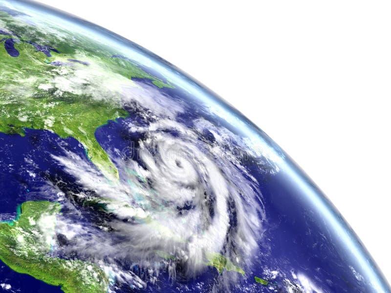 Hurricane Matthew in Caribbean royalty free illustration