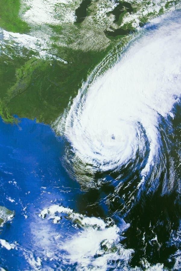 Hurricane over Florida stock photography