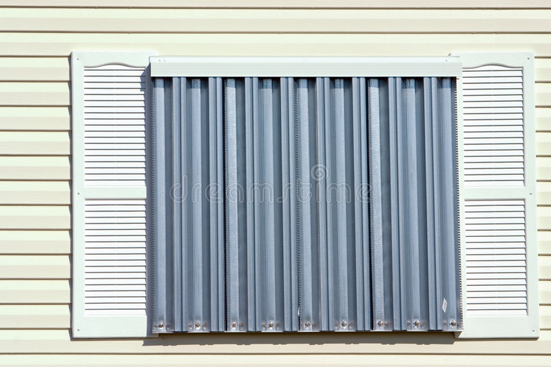 Hurricane Protection Panels4 stock photo