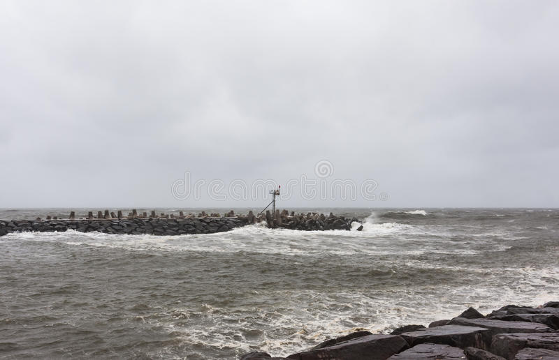 Hurricane Sandy Approaches New Jersey Shore. Point Pleasant New Jersey on Sunday October 28th, 2012. One day before Hurricane Sandy made landfall. Photo is 32 royalty free stock image