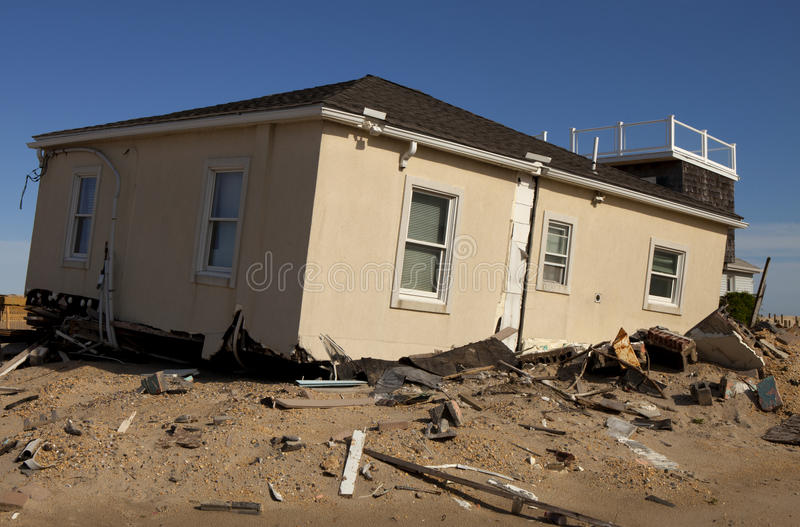 Hurricane Sandy Damage Stock Photography